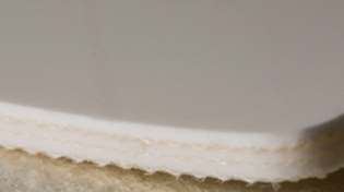 Двухслойная транспортерная лента ПВХ толщиной 2.4 мм, Мин-ый Ду вала, 40 мм, Раб тем -10/+80