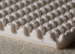 Двухслойная транспортерная лента пищевого ПВХ со жёстким кордом толщиной 5.4 мм. Рабочая темп-ра °С -10/+80
