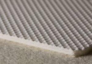 Двухслойная транспортерная лента белого цвета из пищевого ПВХ с вафельной структурой толщиной 3.1 мм/ Рабочая температура °С -10/+80, Ду вала 60 мм