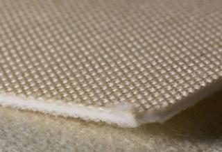 Двухслойная транспортерная лента белая пищевого ПВХ с хлопковой поверхностью толщиной 1.8 мм