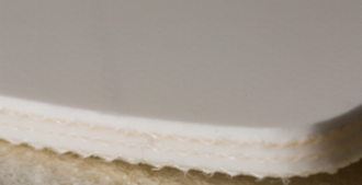 Двухслойная транспортерная лента ПВХ,толщина 2мм, Ду вала, 30 мм .