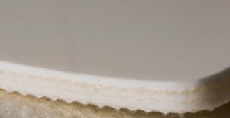 Двухслойная транспортерная лента ПВХ, толщина 2мм, Ду вала, 50 мм .