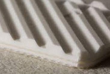 Двухслойная транспортерная лента из пищевого ПВХ со структурной поверхностью s- 4.8 мм, Ду вала 100 мм
