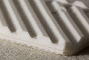 Двухслойная транспортерная лента из пищевого ПВХ со структурной поверхностью s- 4.8 мм, Ду вала 120 мм