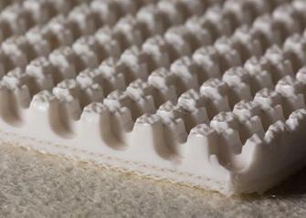 Двухслойная транспортерная лента пищевого ПВХ со жёстким кордом толщиной 5.4 мм
