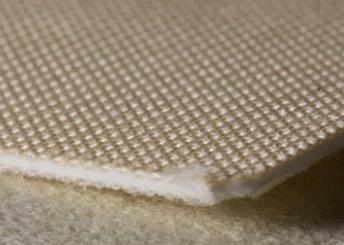Двухслойная лента из пищевого ПВХ с покрытием из искусственного фетра толщиной 2.1 мм. Рабочая температура °С -10/+80, Ду вала 40 мм