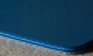 Двухслойная пищевая лента ПВХ синего цвета В-2.4 мм .Ду вала, 35 мм. Рабочая t °С -10/+80