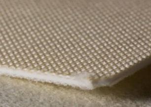 Двухслойная транспортерная лента белая пищевого ПВХ с хлопковой поверхностью S- 5.4 мм. Рабочая t °С -15/+80