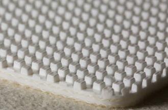 Двухслойная транспортерная лента из пищевого ПВХ с пупырчатой поверхностью