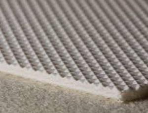 Двухслойная транспортерная лента из пищевого ПВХ с вафельной поверхностью с s- 2.1 мм, Ду вал 90 мм.