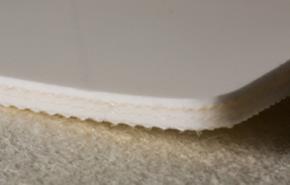 Трёхслойная лента из пищевого ПВХ с самозатухающим материалом толщиной 6.2 мм