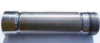 Скважинный щелевой фильтр 0,12 мм* провол опорная 2.2×3, AISI 304,раб колсник опрная 1.5×2.5 AISI 304