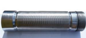 Скважинный щелевой фильтр 0,05 мм* провол опорная 2.2×3, AISI 304, раб колосник 1.5×2.5 AISI 304
