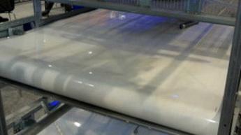 Лента для помётоудаления толщина 1.5 мм, Ширина 1700 мм Рабочая температура, -20,+ 100 °С, твёрдость 64 ShA