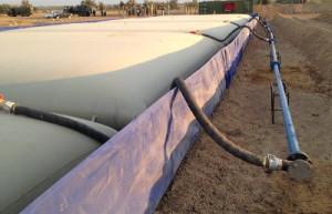 Полимерный эластичный резервуар для ГСМ (нефтяные) ПЭР-Н 100 м3 8,2×11,4