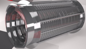 Труба щелевая :Ду 680 мм*0.08 мм щель*L-2600 мм, AISI 304